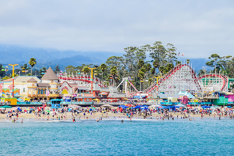Santa Cruz Beach, Santa Cruz; Courtesy of David A. Litman/Shutterstock