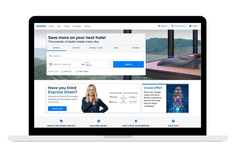 priceline.com screenshot