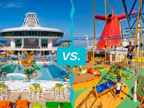 lido decks for royal caribbean and carnival cruise ships; Courtesy of Royal Caribbean and Carnival