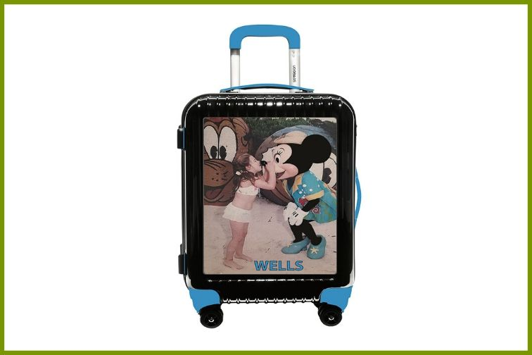 UGOBAG suitcase with photo of girl and minnie mouse