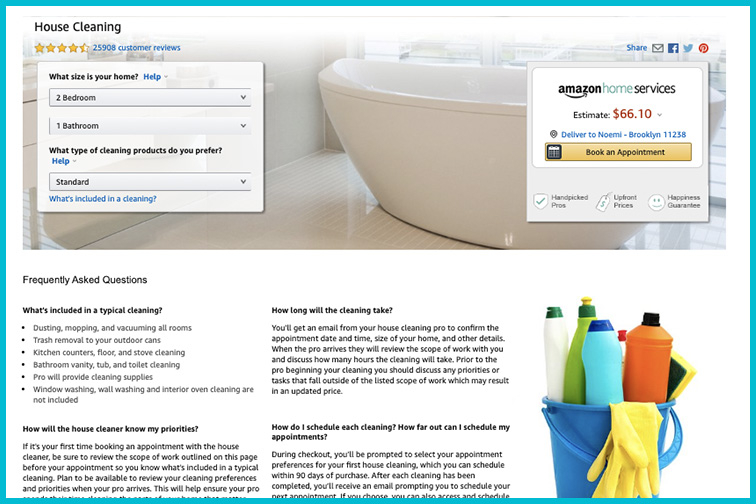 Amazon Home Services House Cleaning; Courtesy AMazon