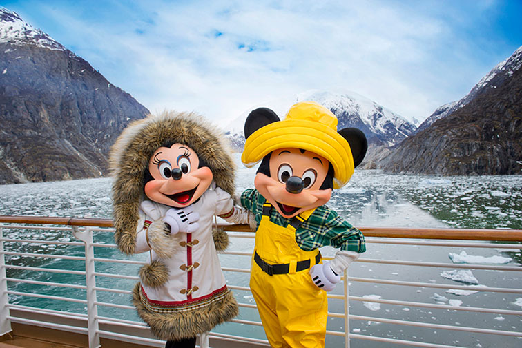 Mickey and Minnie on an Alaskan Cruise With Disney Cruise Line