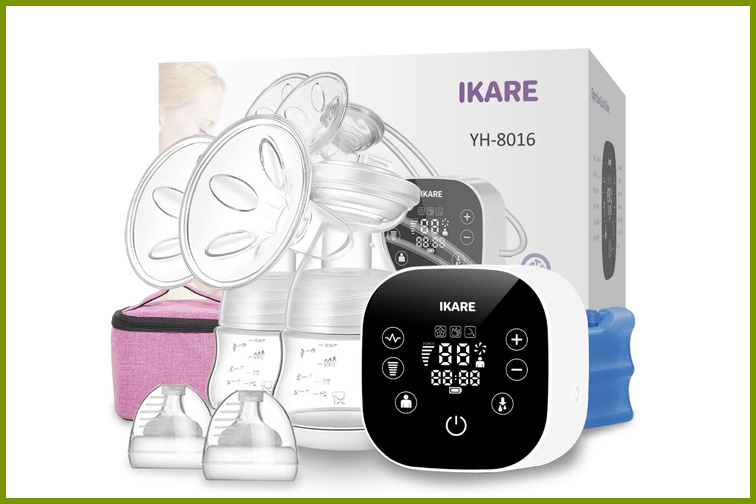 IKARE Double Breast Pumps Hospital Grade, Electric Portable - ; Courtesy Amazon