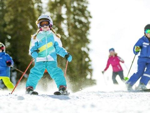 Kids skiing at Keystone Resort in Colorado; Courtesy of Vail Resorts/Daniel Milchev
