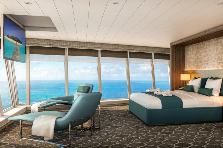 Royal Caribbean Oasis of the Seas - Ultimate Panoramic Suite; Courtesy Royal Caribbean