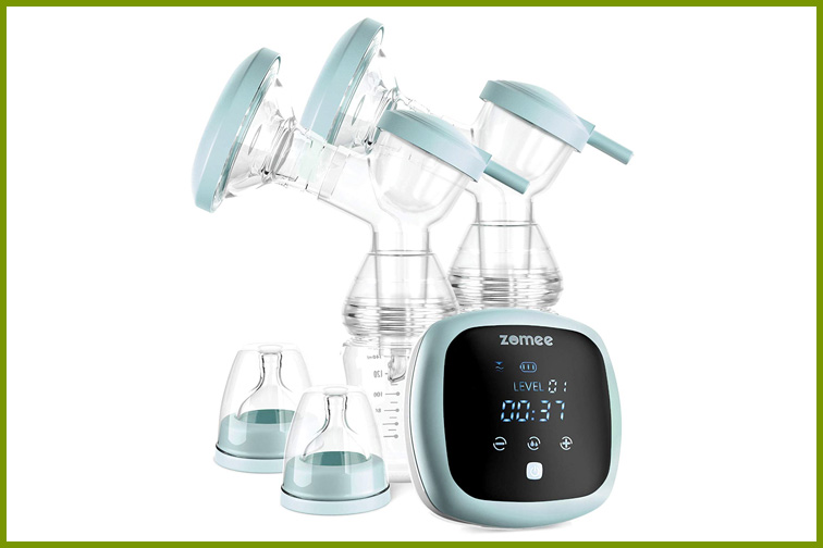 Zomee Double  Breast Pump ; Courtesy Amazon
