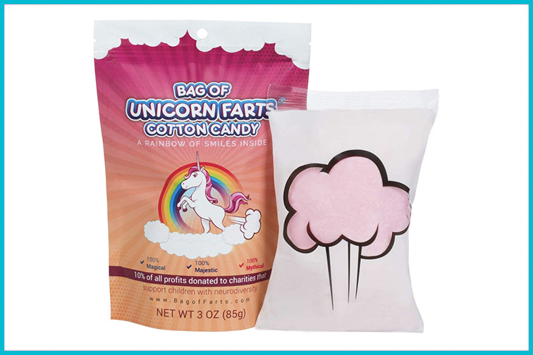 Bag of Reindeer Farts Cotton Candy; Courtesy Amazon