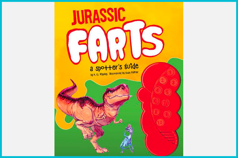 Jurassic Farts, A Spotters Guide Dinosaur Fart Book; Courtesy Amazon