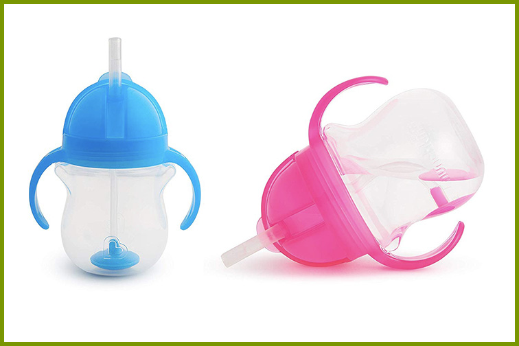 Munchkin Click Lock Weighted Flexi Straw Trainer Cup; Courtesy Amazon