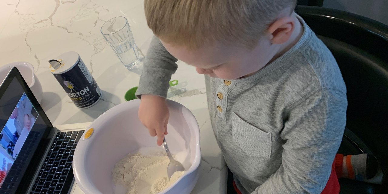 Making homemade playdough; Courtesy of Family Vacation Critic