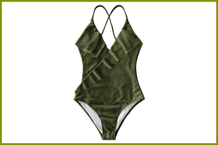 CUPSHE Women's Happy Ending Solid One Piece Swimsuit