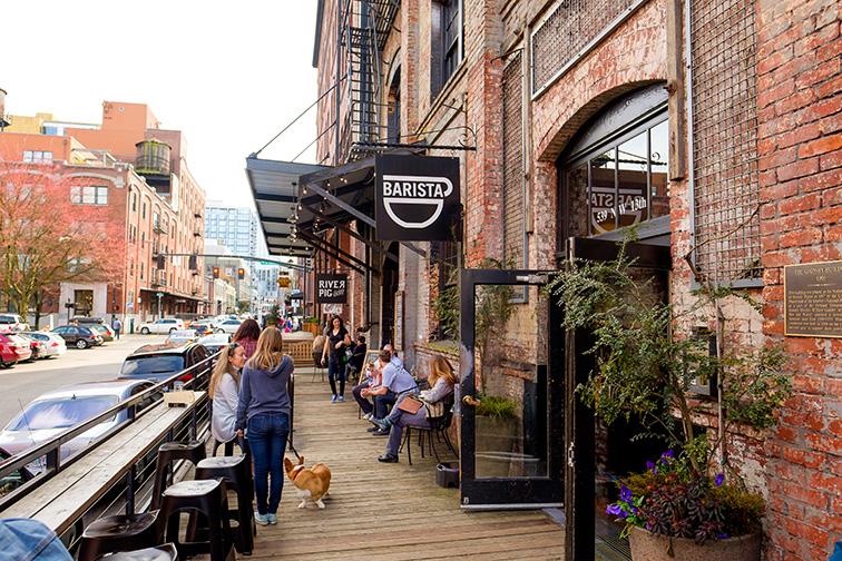 Barista coffee shop in the Pearl District of Portland Oregon.; Courtesy Joshua Rainey Photography