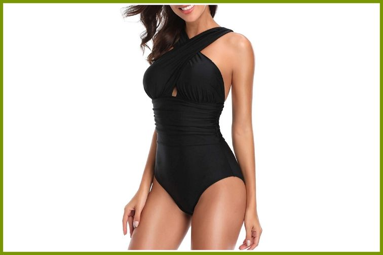You Di An Front Cross Backless Bathing Suit