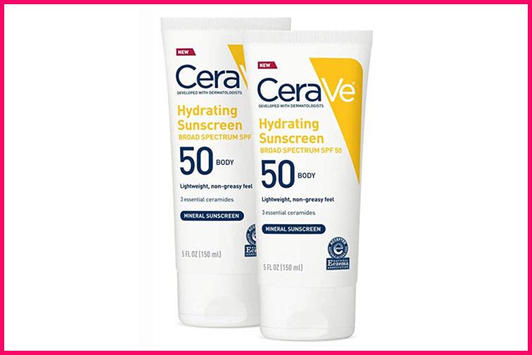 CeraVe Hydrating Sunscreen; Courtesy of Amazon