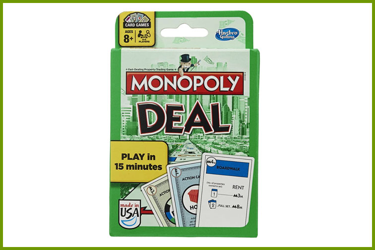 Monopoly Deal Family Card Game; Courtesy of Amazon