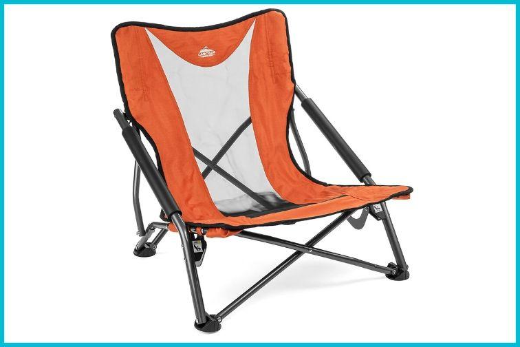 Cascade Mountain Tech Compact Outdoor Folding Camp Chair with Carry Case