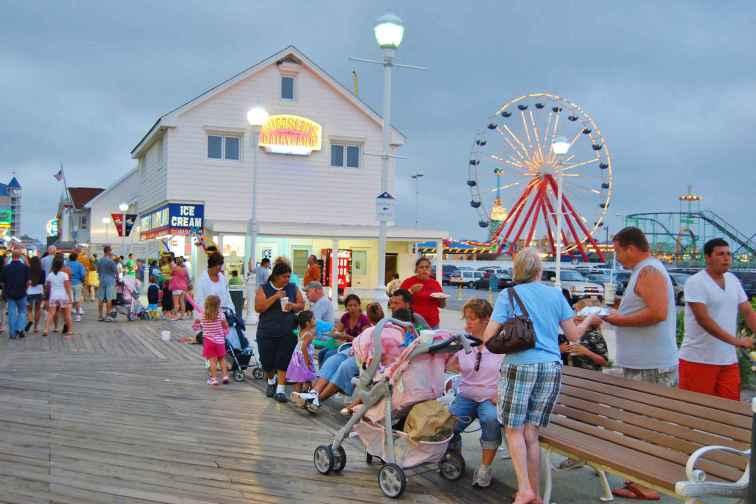 Ocean City, Maryland Boardwalk at Night