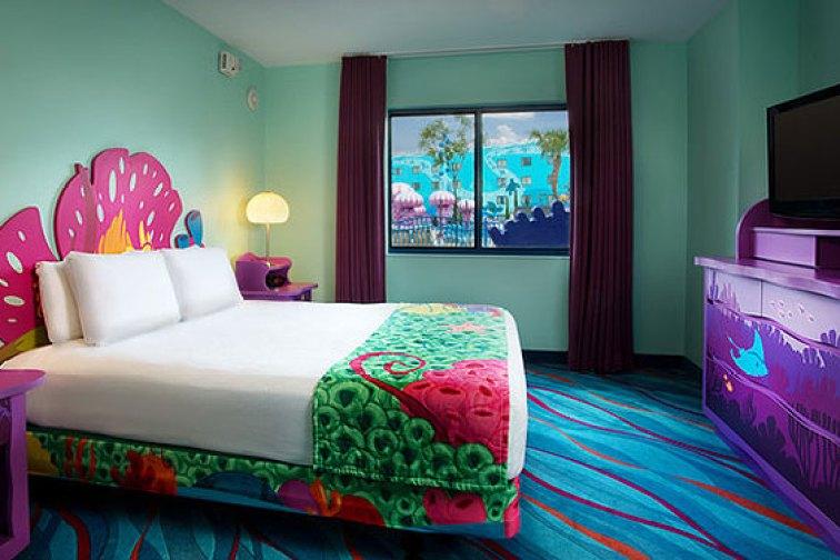 'The Little Mermaid' room at Disney's Art of Animation Resort in Orlando; Courtesy of Walt Disney World