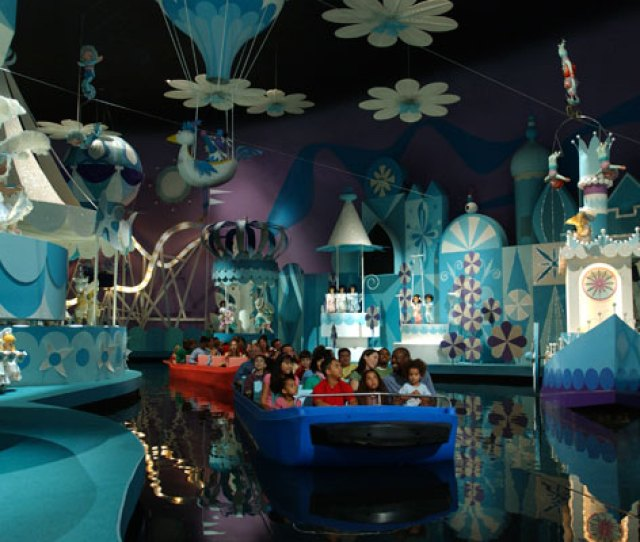 Families Ride Its A Small World At Disney World In Florida