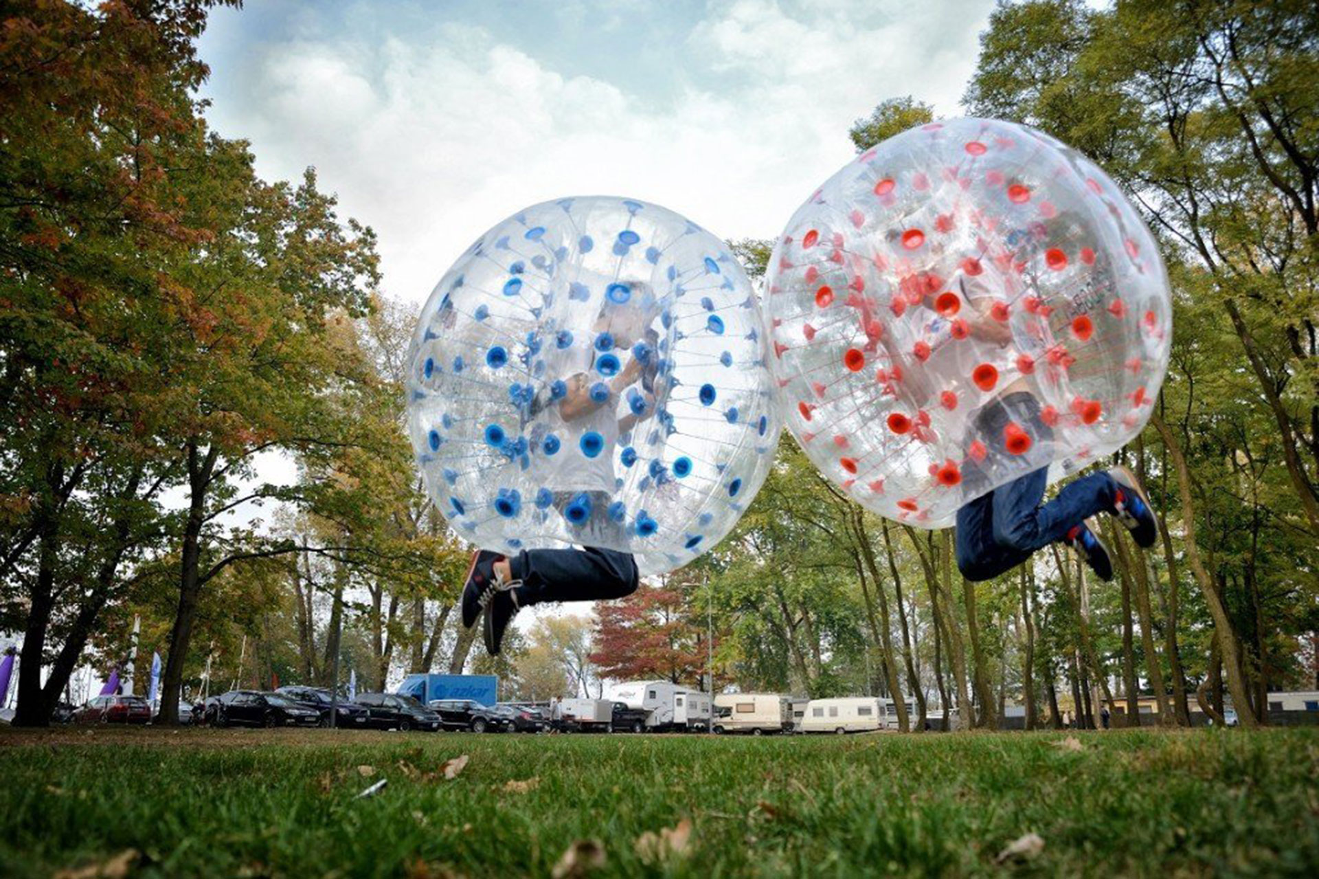 Ancheer Inflatable Bumper Bubble Soccer Ball.