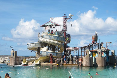 Pelican Plunge water play area at Castaway Cay.