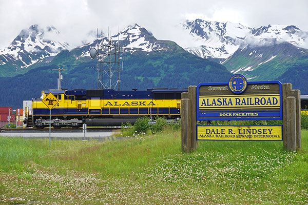 The Alaska Railroad runs through Denali National Park.