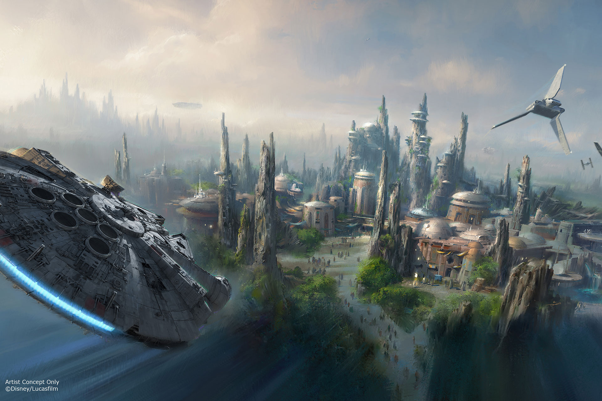 Rendering of New Star Wars Land