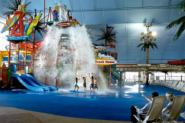 Fallsview Indoor Water Park in Niagara Falls, Ontario.