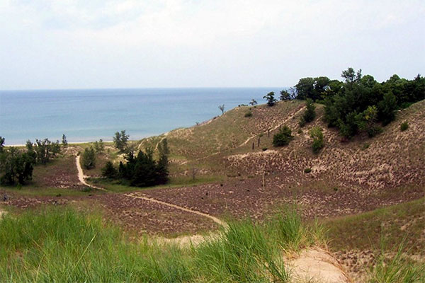 Indiana Dunes State Park in Indiana.