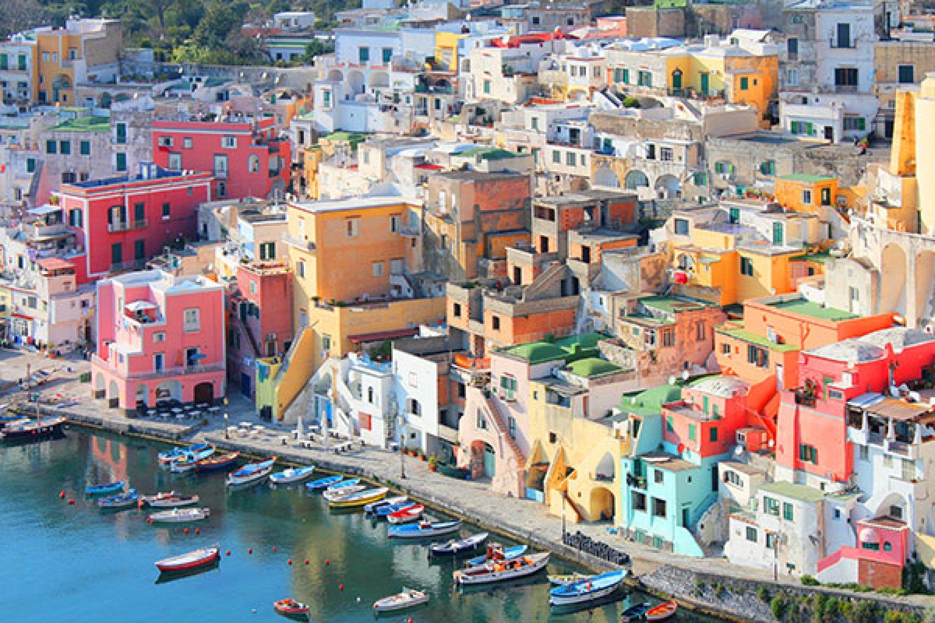 The Italian island of Procida.