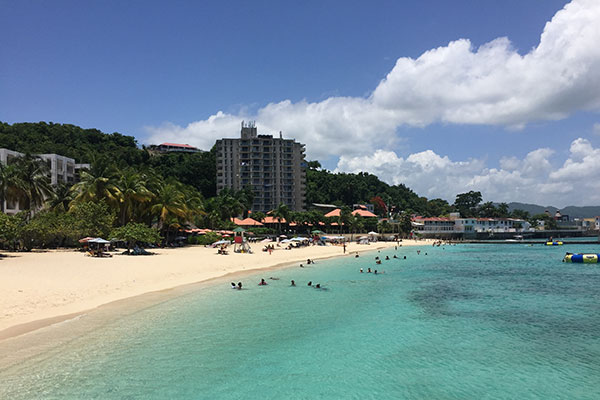 Doctor's Cave Beach in Montego Bay, Jamaica.