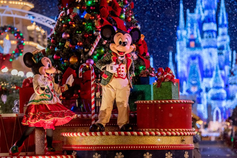 Mickey's Once Upon a Christmastime Parade in Orlando, Florida; Courtesy of Disney