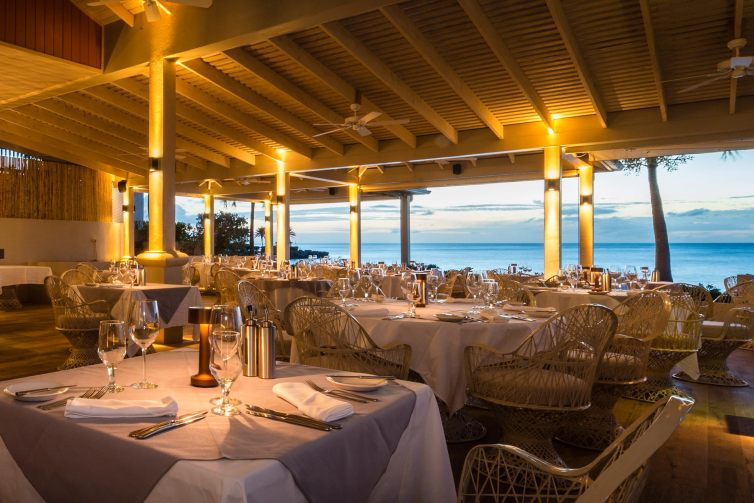 The Cove Restaurant at Blue Waters Resort & Spa in Antigua