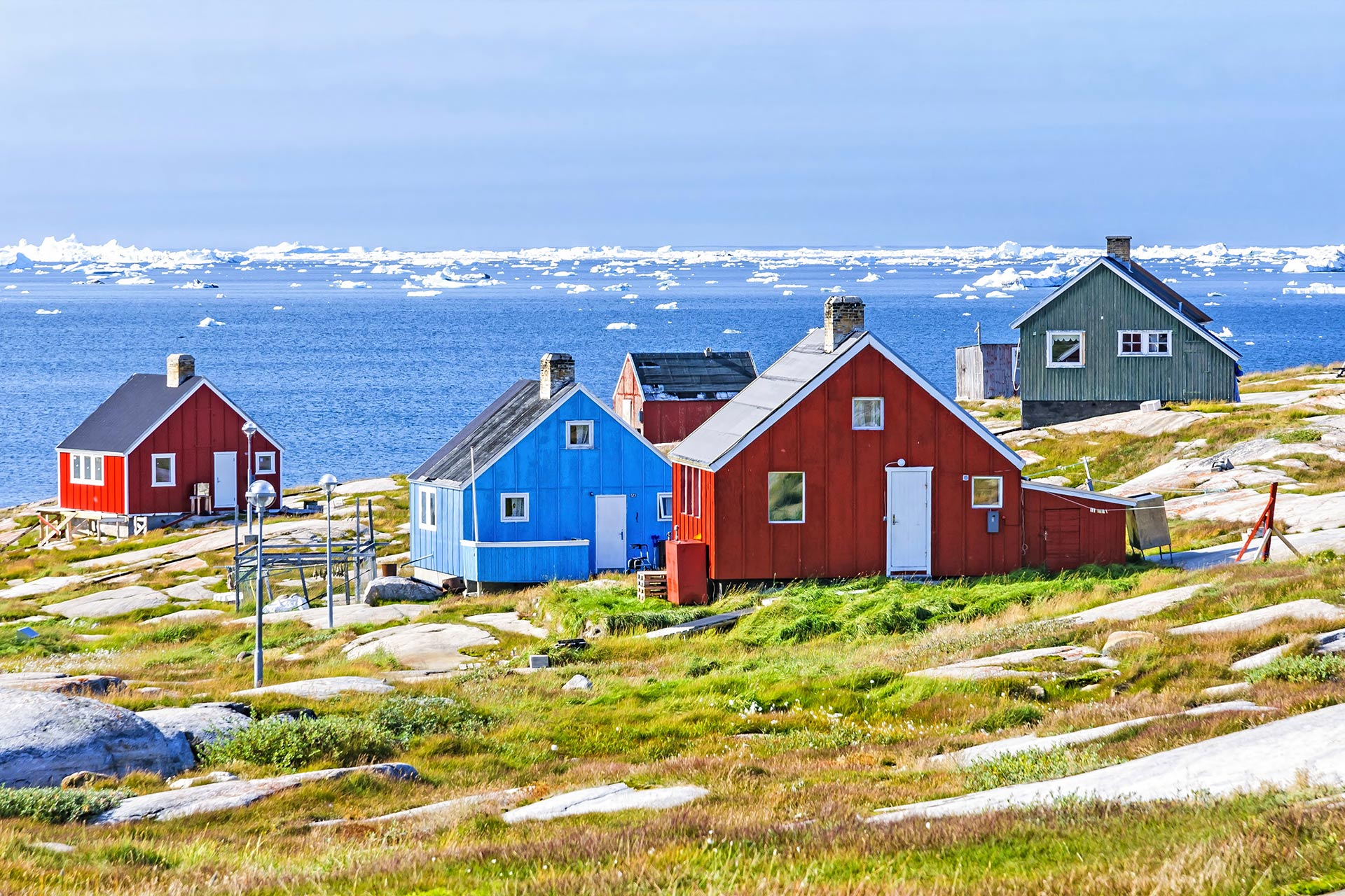 The colorful houses of Rodebay, Greenland