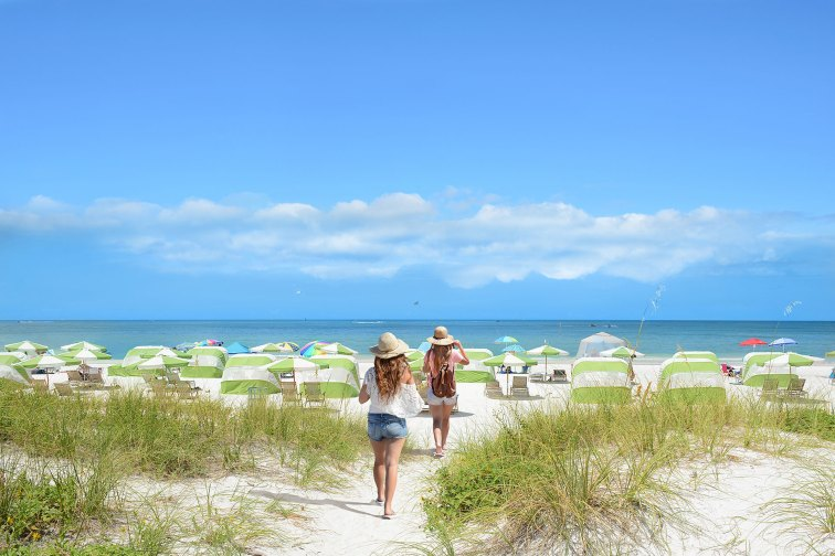 Young Girls in Clearwater Beach, Florida