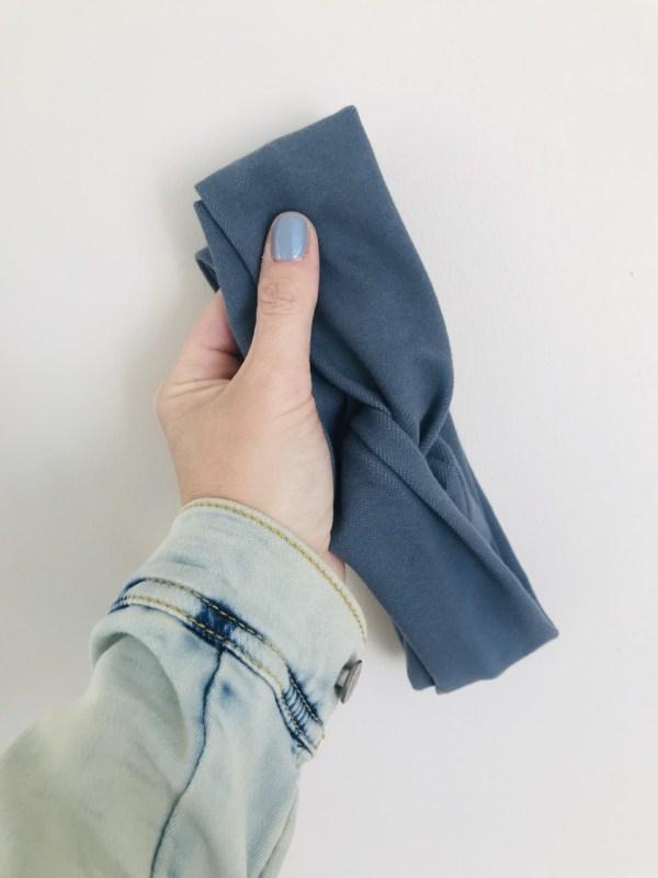 Haarband van jeans