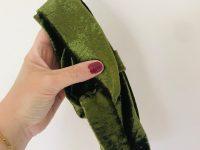Groen velours de panne