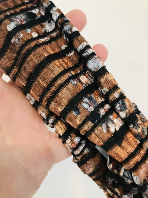 Okergeel roestbruin velvet haarband