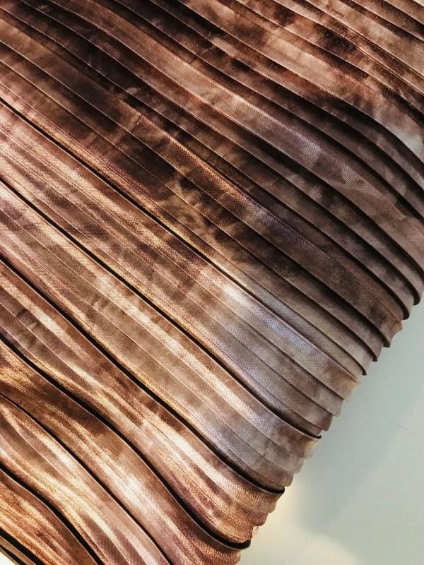 Gemarmerd roestbruin plisse