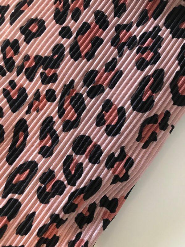 Roze luipaard haarband plissé