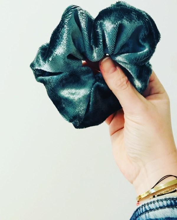 Scrunchie groen velvet