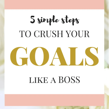 Setting goals and accomplishing goals can be overwhelming. These are simple way to crush your goal and achieve them every time.