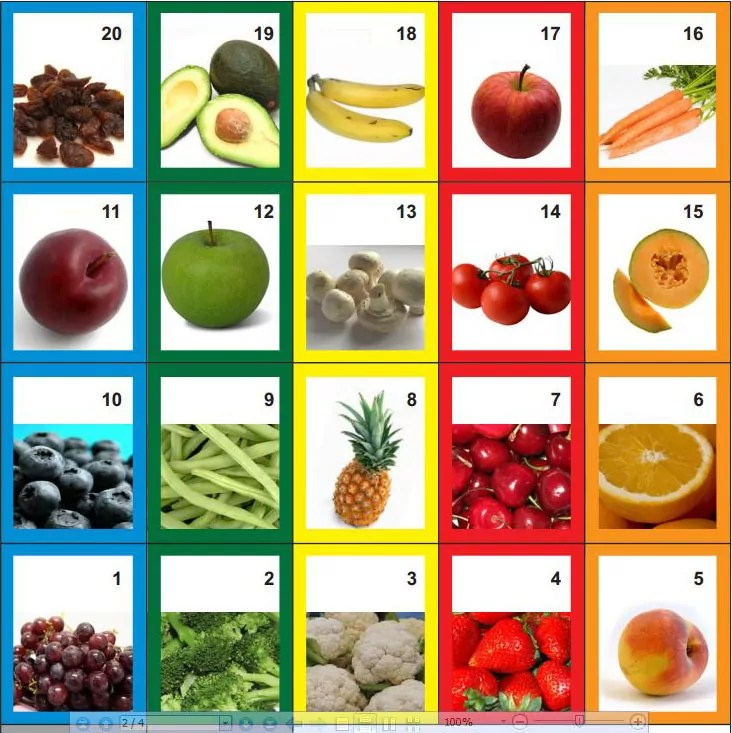 eat a rainbow game cards colorful superfoods for young children