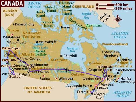 itinerario di viaggio in Canada