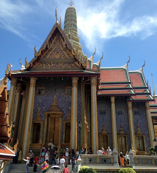 Turista a Bangkok palazzo reale