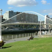 Campo Volantin Bridge, Bilbao, Spain