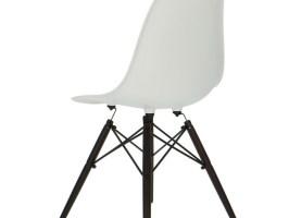 Eames DSW Stuhl   Weiß Dunkle Beine