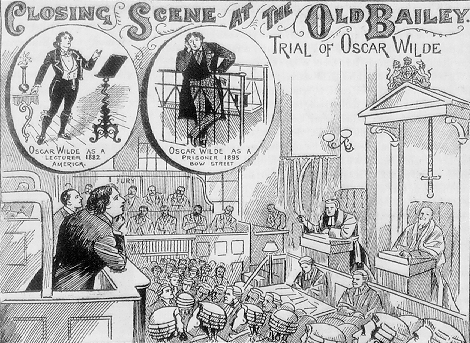 Image result for 1895 – The trial in the libel case brought by Oscar Wilde