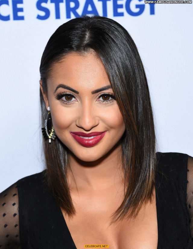 Francia Raisa Celebrity Latina Downblouse Babe Hot Posing Hot Latin