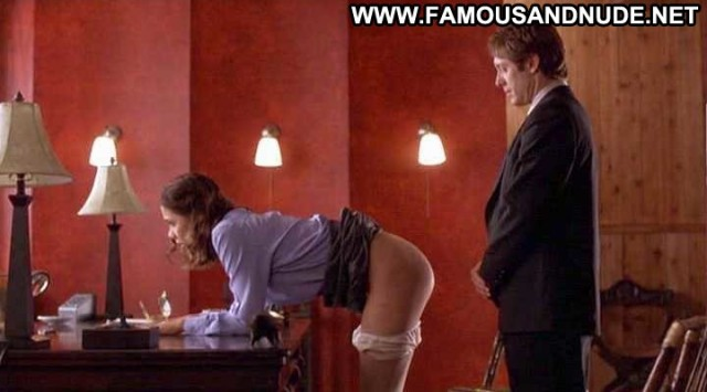 Maggie Gyllenhaal Secretary Panties Desk Ass Nude Famous Beautiful